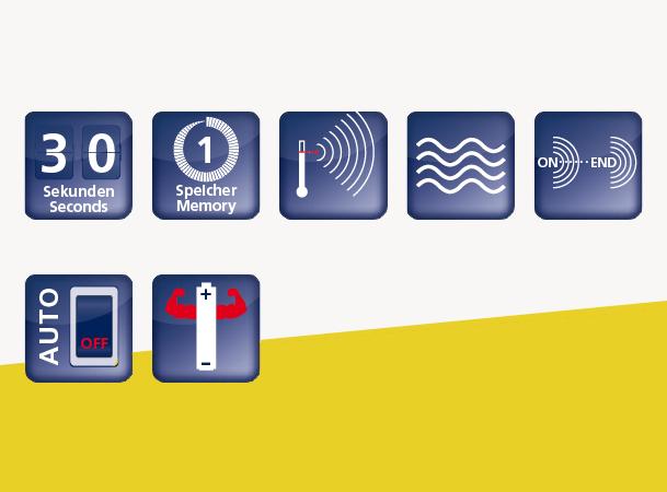Domotherm Easy: Vorteile und Funktionen durch Icons dargestellt