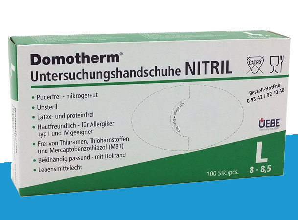 Domotherm Untersuchungshandschuhe Nitril in Größe L