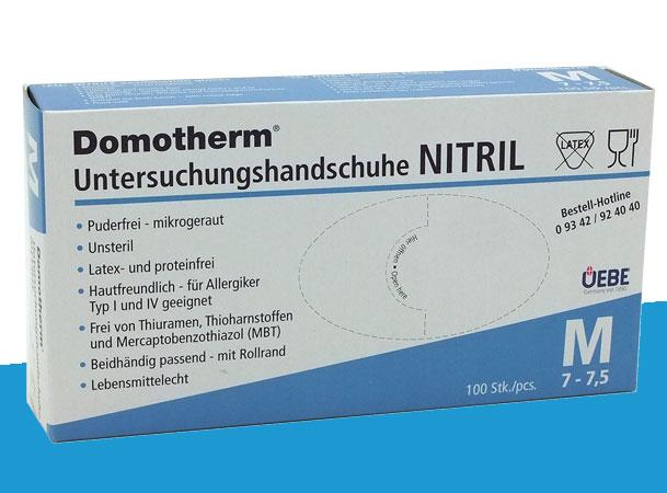 Domotherm Untersuchungshandschuhe Nitril in Größe M