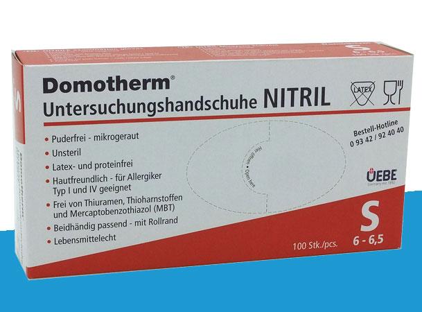 Domotherm Untersuchungshandschuhe Nitril in Größe S